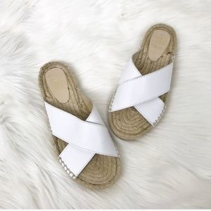 {Pinaz} Made In Spain White Espadrille Sandals